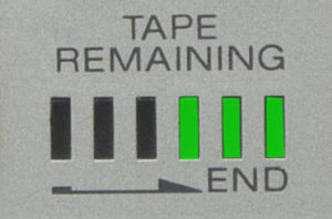 tape remaining indicator