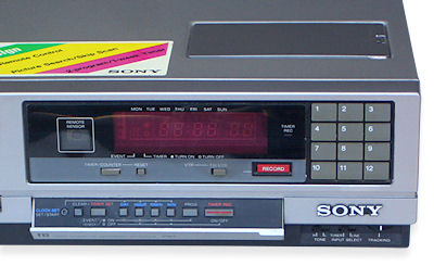 SL-C35AS Betamax front flap controls