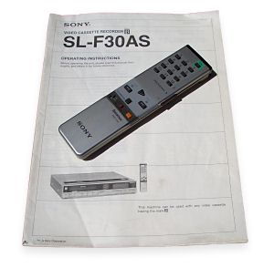 SL-F30 Operating instructions and remote