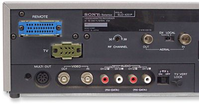 Sony Betamax SLO-420 rear view